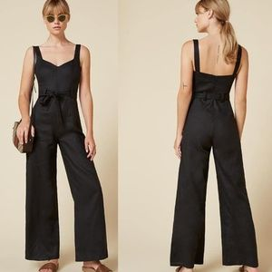 Reformation Joanne Jumpsuit Wide Leg Belted Size 2